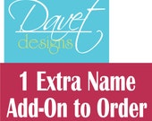 Additional name added to paci and sippy sticker orders