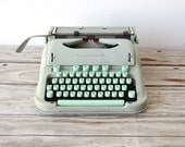 Mint Green Swiss Vintage Hermes 3000 Typewriter