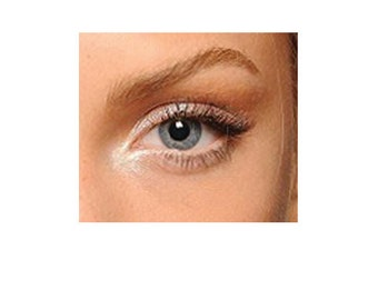Brow Highlighter Lightener - Natural Gentle Vegan Mineral Makeup White Shimmer Pearl Eyeshadow