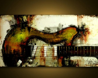 Original Painting - Modern Abstract Art by SLAZO - 24x48 - Made To Order