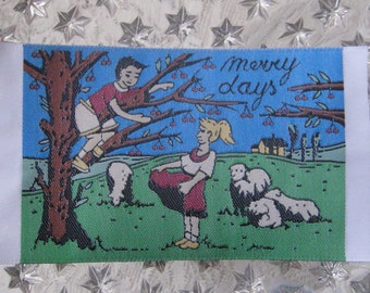 Woven Fabric Label From Europe For Scrapbooking Card Making Sewing Projects