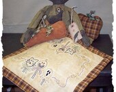 Halloween Friends Table or Place Mat EPATTERN by Primitive Stitches-Instand Download