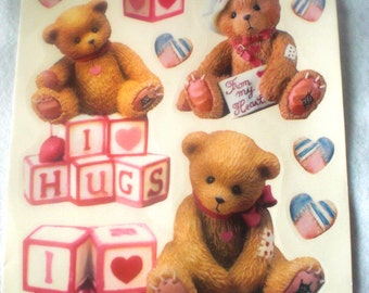 Cherished Teddies Window Clings for Valentines Day