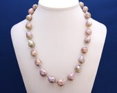 Kasumiga Pearl Necklace Statement Strand June Birthstone 30th Anniversary Wedding Jewelry Mother of Bride