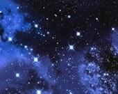 Galaxy Space Blue Timeless Treasures Fabric 1 yard