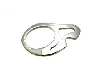 Modern Contemporary Jewelry Silver Ring Minimalist OOAK