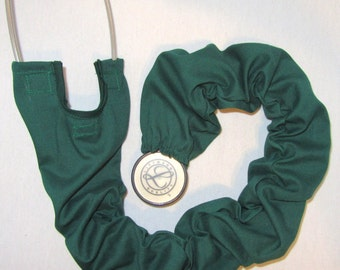 Stethoscope Cover Green Solid Color