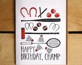 Happy Birthday Champ Letterpress Card