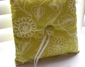 Lime Floral Ring Bearer Pillow