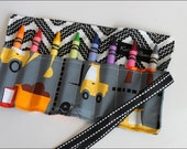 NEW-Construction Mini Me Crayon Holder-8 Crayola Crayons Included