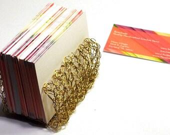 Business Card Holder Office Accessory Desk Organizer