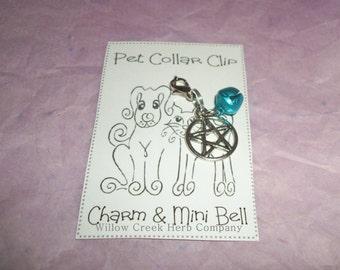Pet Collar Jewelry - Clip On - Pentacle/Pentagram W/ Mini Bell