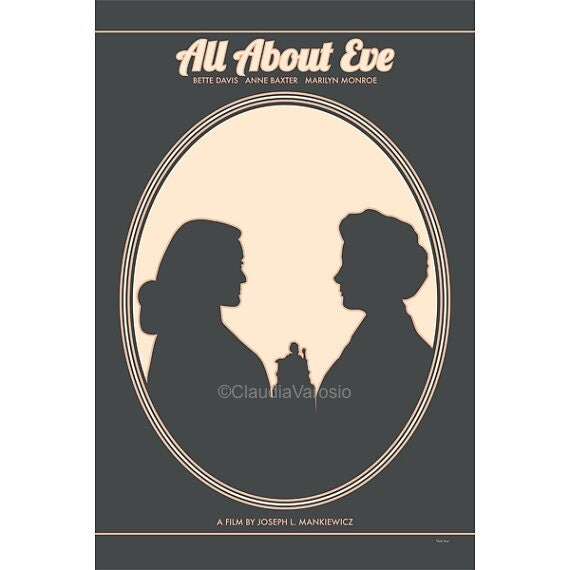 Movie poster All About Eve 12x18 inches retro print