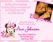Minnie Mouse Baby Shower Invitations (Baby Minnie Mouse Baby Shower)