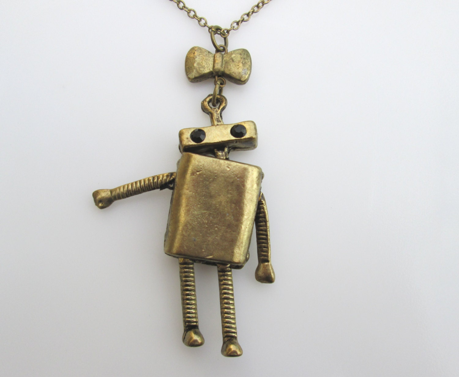 Robot Necklace The Awkward Robot Girl Robot Robot Pendant