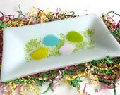 Fused Glass Easter Plate