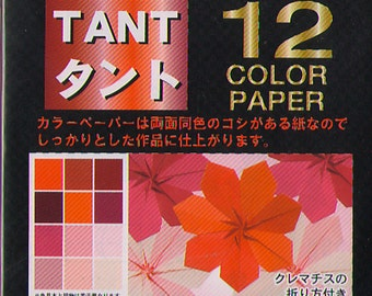 JAPANESE ORIGAMI PAPER Pink Red Tones 96 Sheets 7.5cm (3 Inch) Semi-textured Double Sided Great for Flower Making
