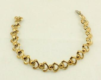 Gold Filled Vermeil Bracelet, 830 Silver, Infinity Link Bracelet