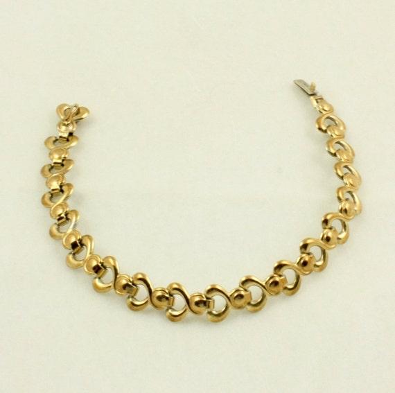 Vintage Gold Filled 830 Silver Vermeil Bracelet with Infinity Links