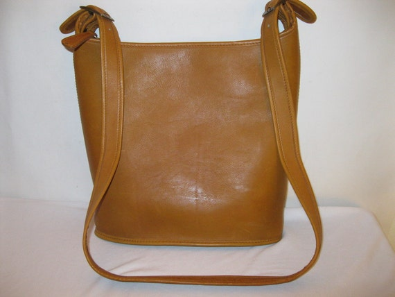 GAUCHO thick waxed  glove tanned leather tote saddle cross body bag purse vintage N MINT