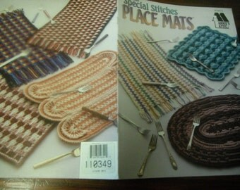 Crocheting Patterns Special Stitches Place Mats Annie's Attic 879915 Crochet Pattern Leaflet
