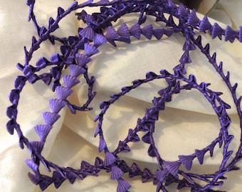 Lovely heavy purple pyramid rayon braid  3 yards