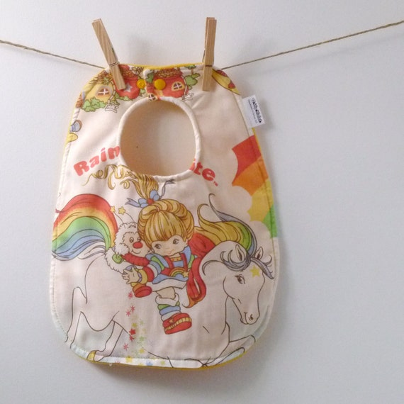 Baby Bib From Vintage Rainbow Brite Sheets 80 S Baby By