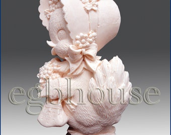 2D Silicone Soap Mold - Cute Lady Duck - free shipping - from original designer - say no to copycats