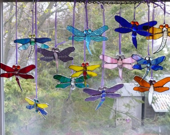 Stained Glass Damselfly Dragonfly Brilliant