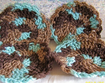 hand crocheted coasters set of 4