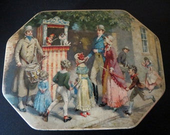 Vintage Thorne's Punch and Judy Tin Toffee
