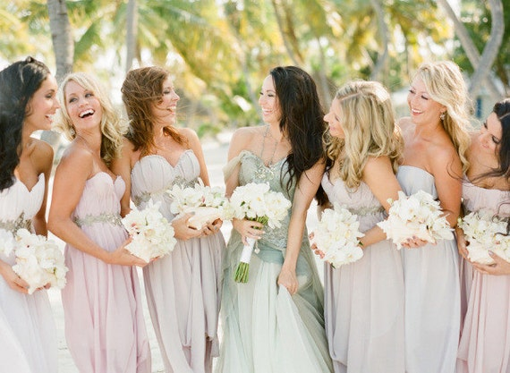 New Custom AsA Bridesmaids Dresses --The Abalone Style