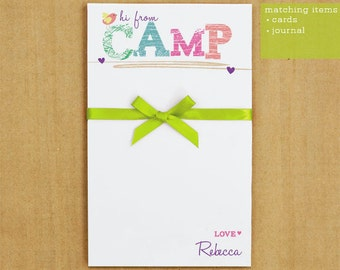 Personalized Stationary -  Camp Notepad Stationary