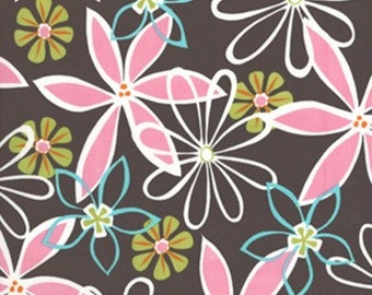 Daisy Dreams fabric | Cotton Quilting fabric | Michael Miller CX2813-BROW-D