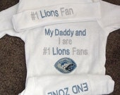 Detroit Lions  NFL Football Baby Infant Newborn Creeper Hat Set