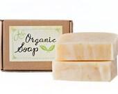 Pink Grapefruit Natural Organic Soap, handmade with Shea Butter - Vegan Friendly, 4.5 oz - 128 grams