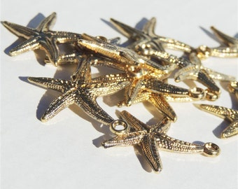 Starfish Gold-Tone Buttons by Buttons Galore