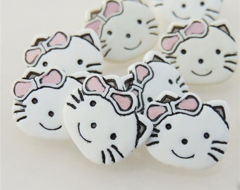 NOT Hello Kitty Cat Face Buttons by Buttons Galore
