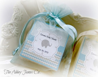 Baby  Boy Shower Favors, Soap Favors, Elephant Baby Shower, Soap Favors, set of 10