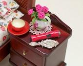 Flashlight Red Plastic Flash Light Torch 1:12 Dollhouse Miniatures Artisan