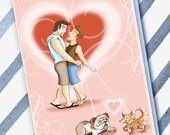 PUPPY LOVE-Gay Card