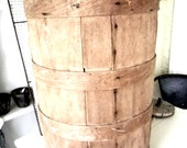 Vintage Farmhouse Solid Wood Primitive Barrel