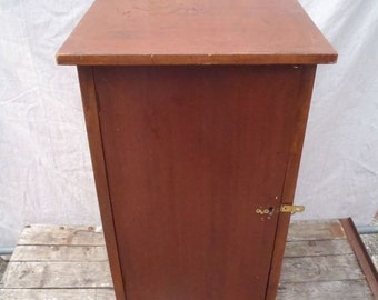 Vintage Solid Wood Cabinet With Two Interior Shelves for Storage