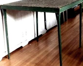 Vintage Modern Solid Metal Folding Table
