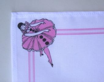 Pink Pierrot Ballerina Printed Handkerchief