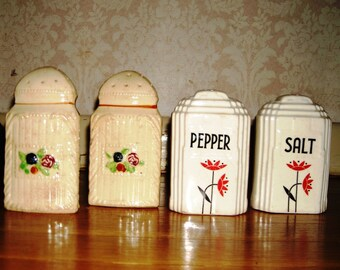 Salt and Pepper Shakers, Two Sets of Shakers