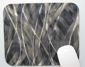 Buy 2 FREE SHIPPING Special!!   Mousepad, Fabric Mouse Pad    Grey Tonal Streak