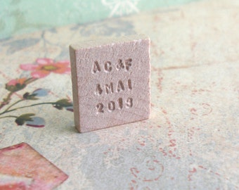 Letterpress Keepsake .. Will You Marry Me .. Vintage Blank Scrabble Tile .. Hand stamped .. Awesome marriage proposal .. engraved souvenir