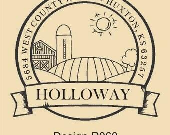 Custom Rubber Stamp Holloway Design R060