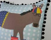 DIY Pillow Panel - Beanie Hat Donkey